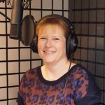 Esther Wane provides a variety of voice over accents in her sound proof booth